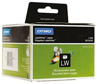Originální etikety DYMO 11354 (S0722540), 57mm x 32mm, černý tisk na bílém podkladu, 1000ks