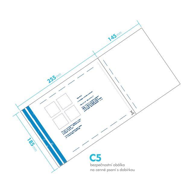 Bezpečnostní obálka C5 - s dobírkou česká pošta