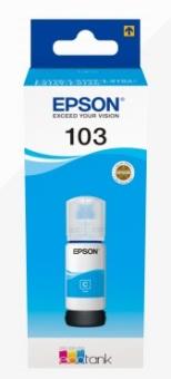 Originální lahev s inkoustem Epson 103 C (C13T00S24A) (Azurová)