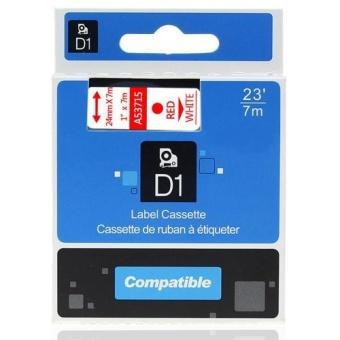 Kompatibilní páska s DYMO 53715, 24mm, červený tisk na bílém podkladu
