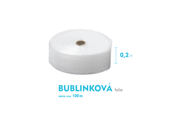 Bublinková fólie - 20cm x 100m - šíře x návin