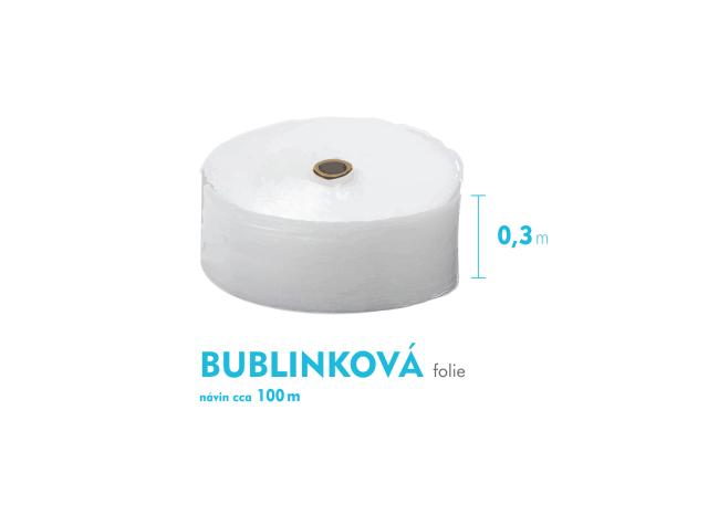 Bublinková fólie - 30cm x 100m - šíře x návin