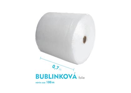 Bublinková fólie - 70cm x 100m - šíře x návin