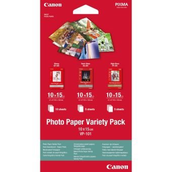 Fotopapír 10x15cm Canon Variety Pack, 20 listů, lesklý, bílý, inkoustový (VP-101)