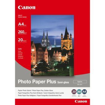 Fotopapír 24x30cm Canon Photo Paper Plus, 20 listů, 260 g/m2, lesklý, bílý, inkoustový (SG-201)