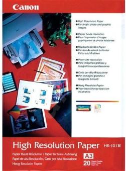 Fotopapír A3 Canon High Resolution, 20 listů, 160 g/m2, speciálně vyhlazený, bílý, inkoustový (HR-101)