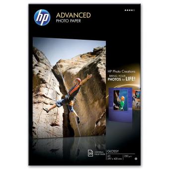 Fotopapír A3 HP Advanced Glossy, 20 listů, 250 g/m2, lesklý (Q8697A)