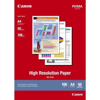 Fotopapír A4 Canon High Resolution, 50 listů, 106 g/m2, bílý, inkoustový (HR-101N)
