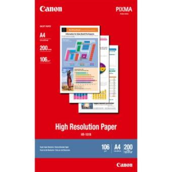 Fotopapír A4 Canon High Resolution, 200 listů, 106 g/m2, speciálně vyhlazený, bílý, inkoustový (HR-101)