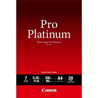 Fotopapír A4 Canon Pro Platinum, 20 listů, 300 g/m2, lesklý, bílý, inkoustový (PT-101)