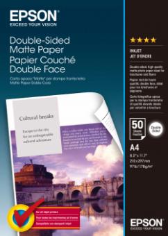 Fotopapír A4 Epson Double Sided Matte, 50 listů, 178 g/m2, matný, bílý, oboustranný, inkoustový (C13S041569)