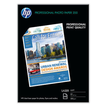 Fotopapír A4 HP Professional Matt, 100 listů, 200 g/m2, matný, laserový (Q6550A)