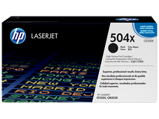 Originální toner HP 504X, HP CE250X (Černý)