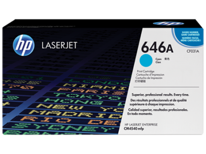 Originální toner HP 646A, HP CF031A (Azurový)