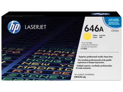 Originální toner HP 646A, HP CF032A (Žlutý)