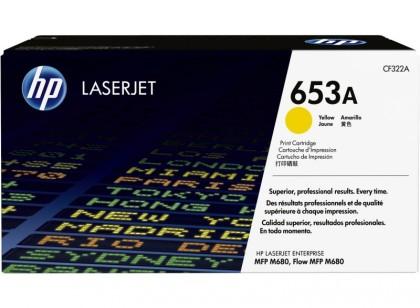 Originální toner HP 653A, HP CF322A (Žlutý)