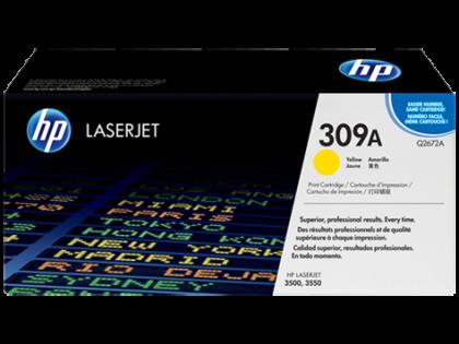 Originální toner HP 309A, HP Q2672A (Žlutý)