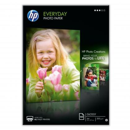 Fotopapír A4 HP Everyday Glossy, 100 listů, 200 g/m2, lesklý (Q2510A)