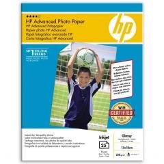 Fotopapír 13x18cm HP Advanced Glossy, 25 listů, 250 g/m2, lesklý (Q8696A)