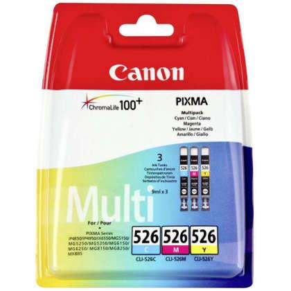 Sada originálních cartridge Canon CLI-526C/M/Y