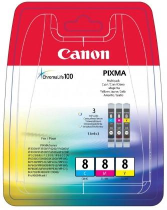 Sada originálních cartridge Canon CLI-8C/M/Y