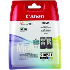 Cartridge do tiskárny Originální sada cartridge Canon PG-510/CL-511 (Černá, barevná)