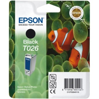 Originální cartridge EPSON T026 (Černá)