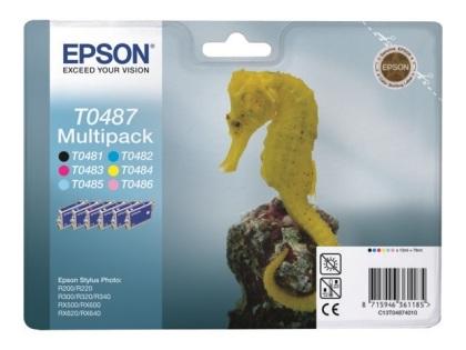 Sada originálních cartridge EPSON T0487 - obsahuje T0481-T0486