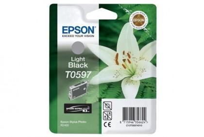 Originální cartridge Epson T0597 (Světle černá)