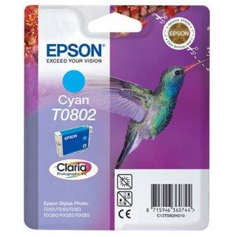 Originální cartridge EPSON T0802 (Azurová)