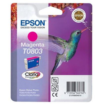 Originální cartridge EPSON T0803 (Purpurová)