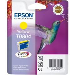 Cartridge do tiskárny Originální cartridge EPSON T0804 (Žlutá)