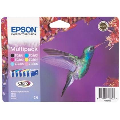 Sada originálních cartridge EPSON T0807 - obsahuje T0801-T0806
