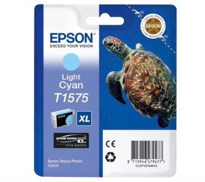 Originální cartridge EPSON T1575 (Světle azurová)