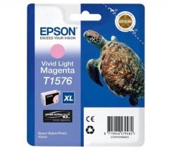 Cartridge do tiskárny Originální cartridge EPSON T1576 (Živě světle purpurová)