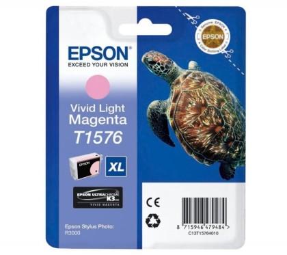 Originální cartridge EPSON T1576 (Živě světle purpurová)