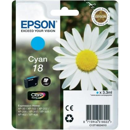 Originální cartridge EPSON T1802 (Azurová)