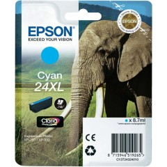 Cartridge do tiskárny Originální cartridge EPSON T2432 (Azurová)