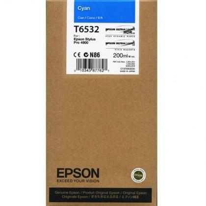 Originální cartridge Epson T6532 (Azurová)