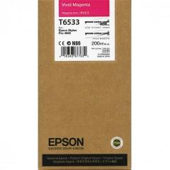 Cartridge do tiskárny Originální cartridge Epson T6533 (Živě purpurová)