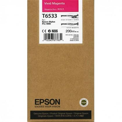 Originální cartridge Epson T6533 (Živě purpurová)