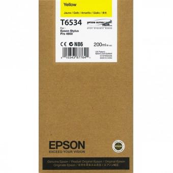 Originální cartridge Epson T6534 (Žlutá)