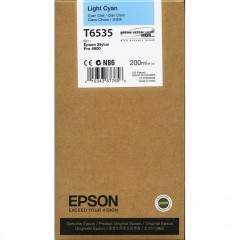 Cartridge do tiskárny Originální cartridge Epson T6535 (Světle azurová)