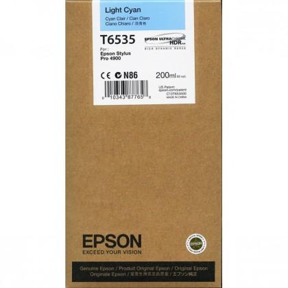 Originální cartridge Epson T6535 (Světle azurová)