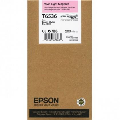 Originální cartridge Epson T6536 (Živě světle purpurová)