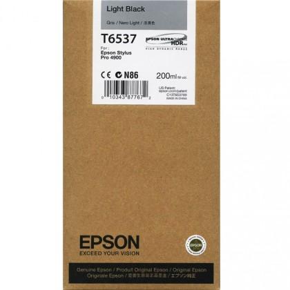 Originální cartridge Epson T6537 (Světle černá)