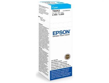 Originální lahev Epson T6642 (Azurová)