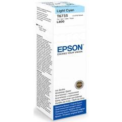Cartridge do tiskárny Originální lahev Epson T6735 (Foto azurová)
