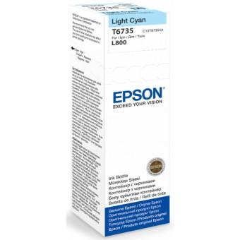 Originální lahev Epson T6735 (Foto azurová)