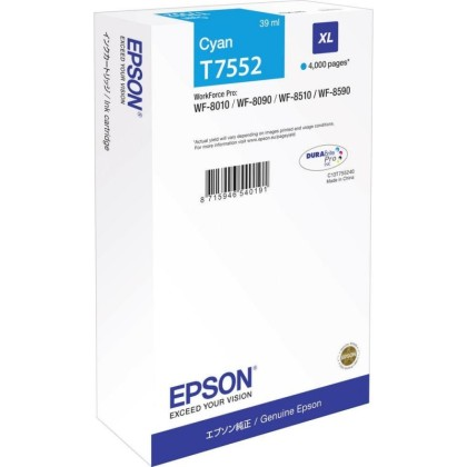 Originální cartridge Epson T7552 (Azurová)